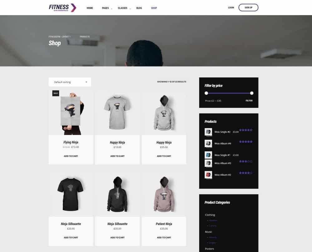 gym-website-shop