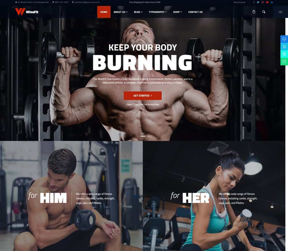gym-website-showcase