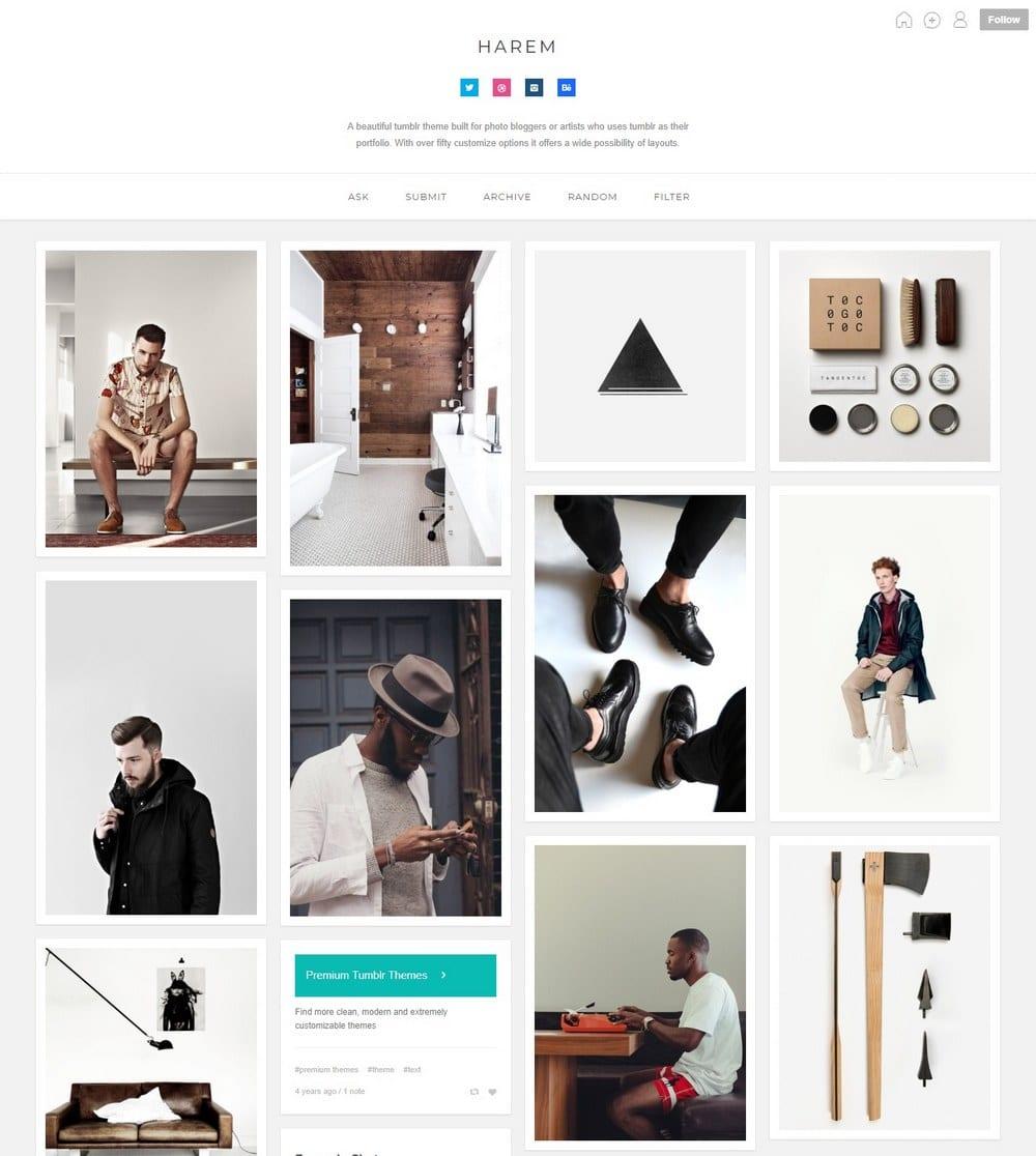 harem-grid-tumblr-theme