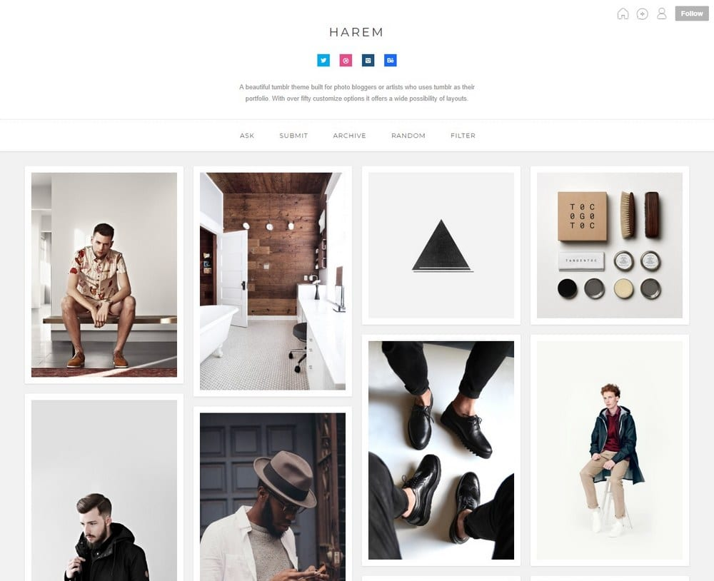 harem-tumblr-portfolio-theme