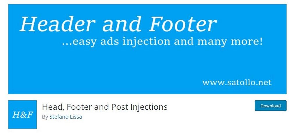 injeksi header footer