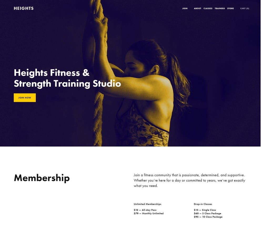 heights-squarespace-template