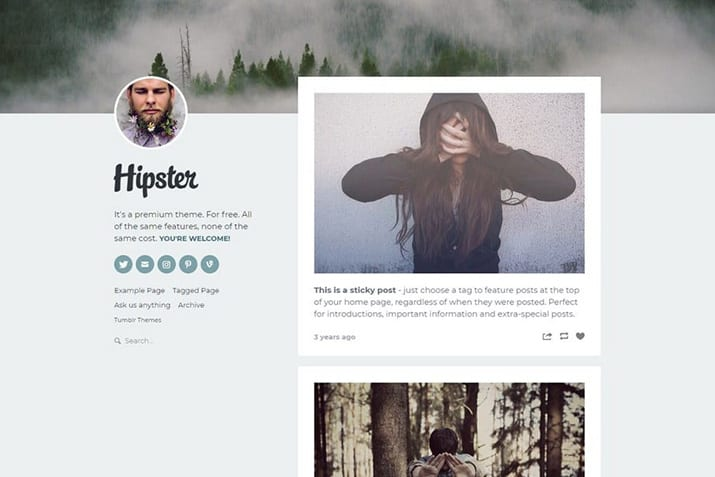10+ Best Hipster Tumblr Themes 2020