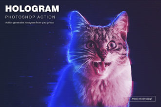 20+ Best Hologram Photoshop Effects & Actions