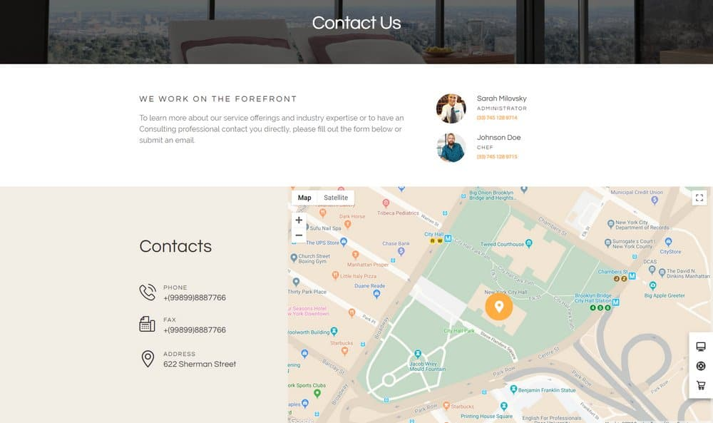hotel-contact-page