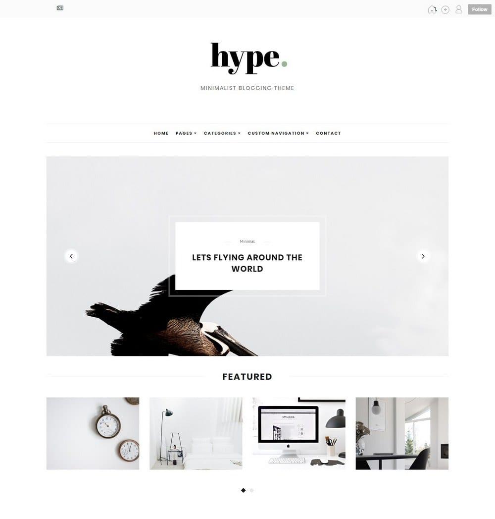 hype-minimal-tumblr-theme