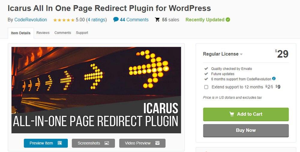 icarus 404 redirect