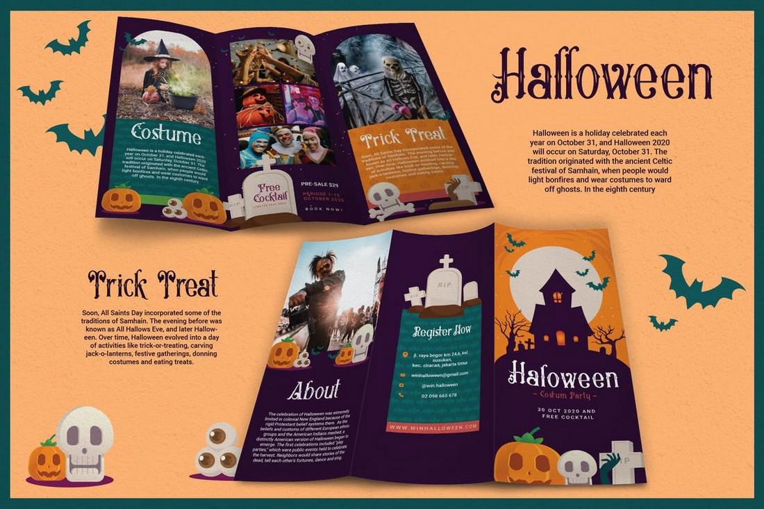 illustratated brochure template