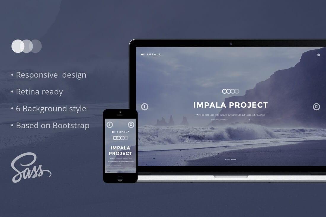 impala coming soon wordpress plugin