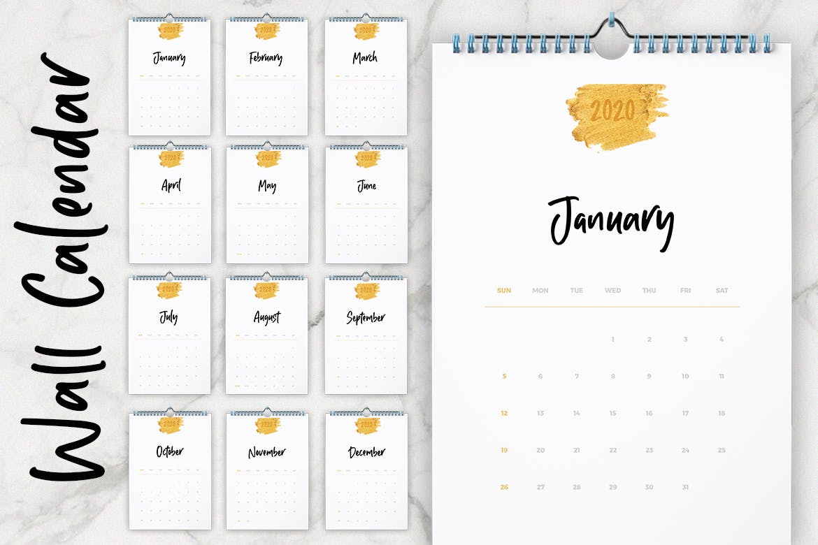 Adobe Indesign Calendar Template 2021