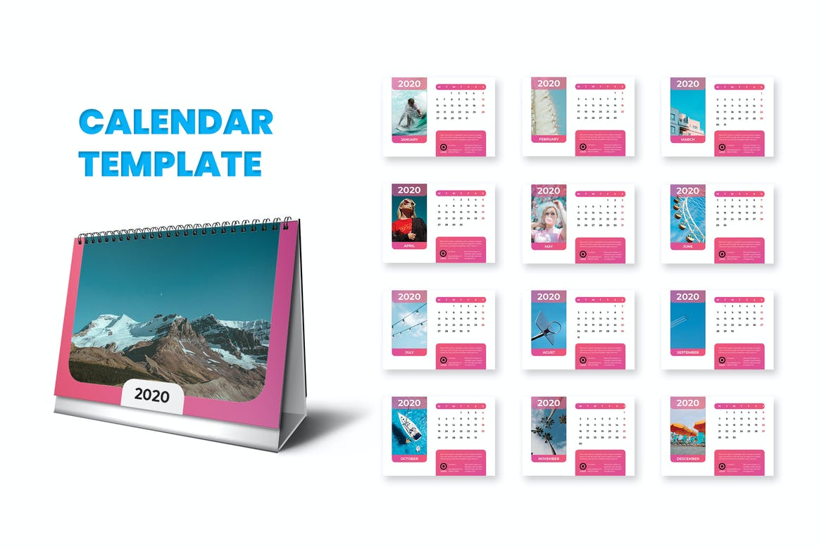 Photos of Adobe Indesign Calendar Template 2021