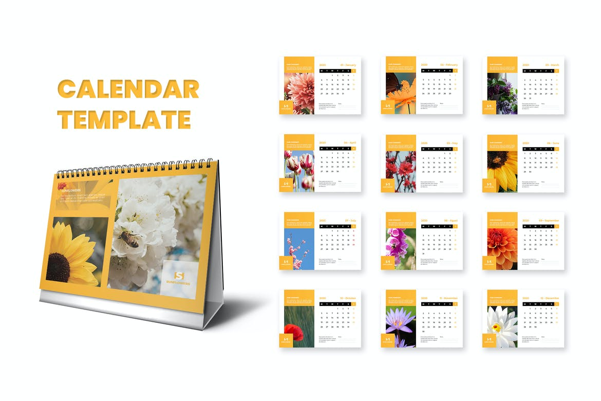 Pictures of Adobe Indesign Calendar Template 2021