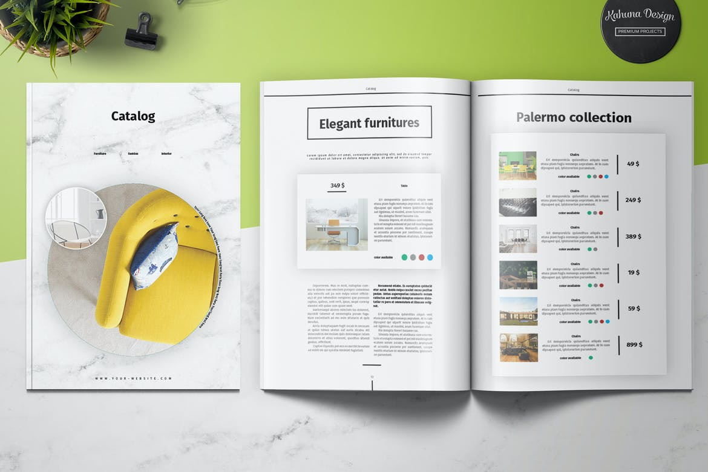mejores plantillas en InDesign para catálogos 2021