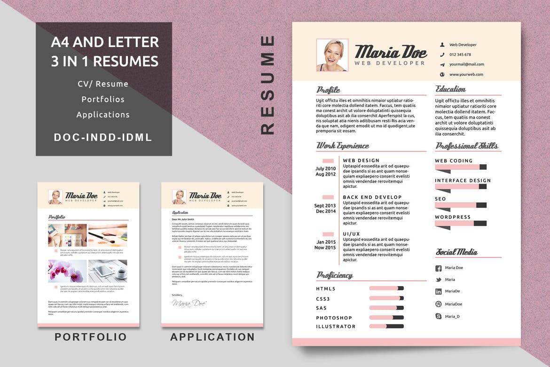 20 Best Indesign Resume Templates Free Cv Templates 2020 Theme Junkie
