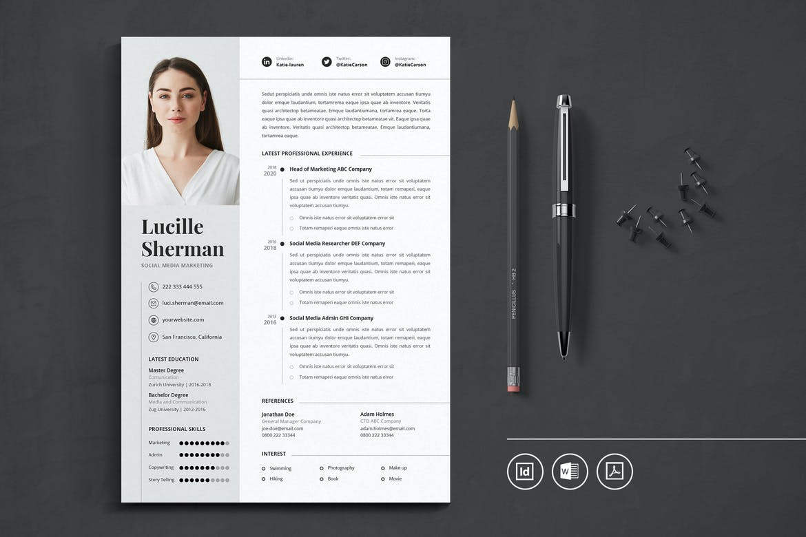 Resume 2016 Template from www.theme-junkie.com