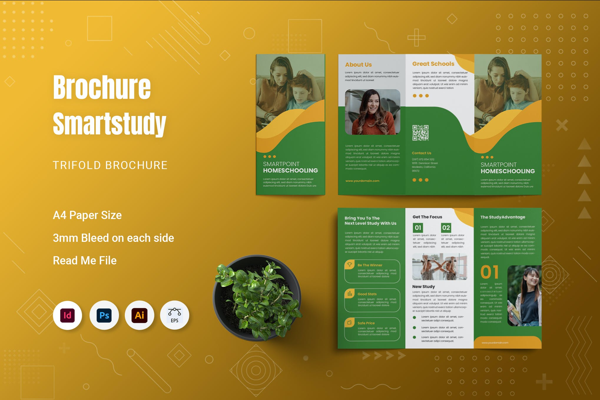 indesign trifold brochure