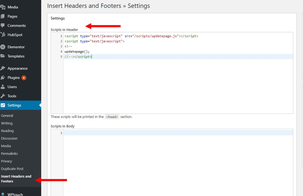 install headers and footers 2