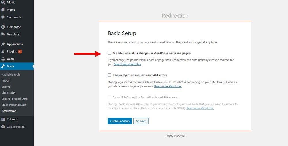 install redirection setup 2