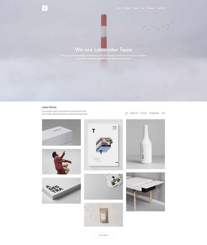 kalium-portfolio-wp-theme