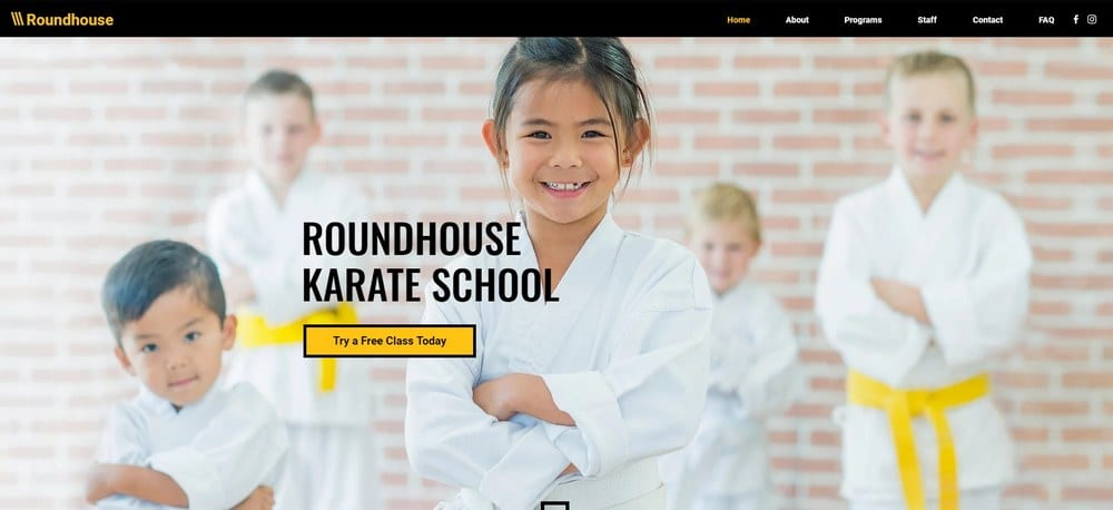 karate-school-wix-template