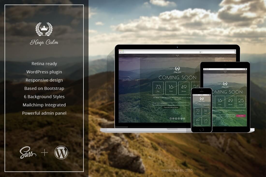 keepcalm coming soon wordpress plugin