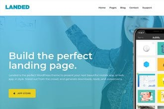 Landed: Our New Landing Page WordPress Theme