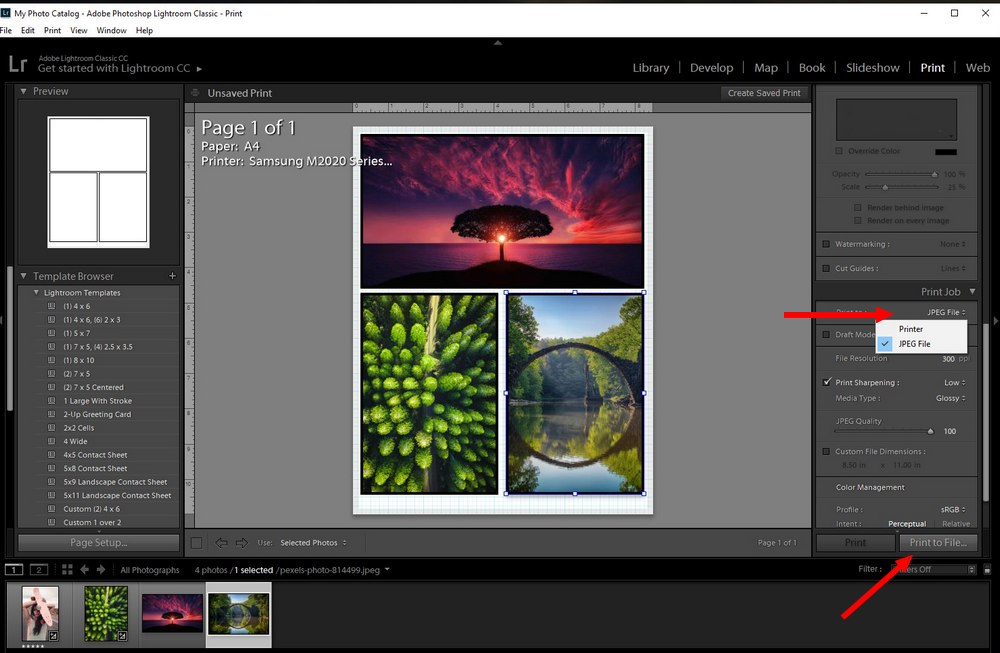 lightroom tips - collage