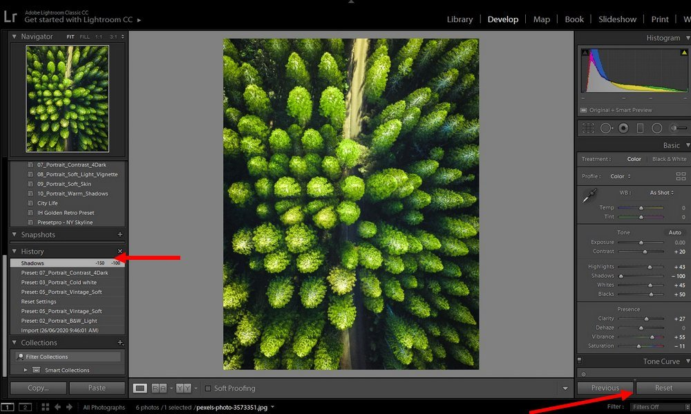 lightroom tips - undo