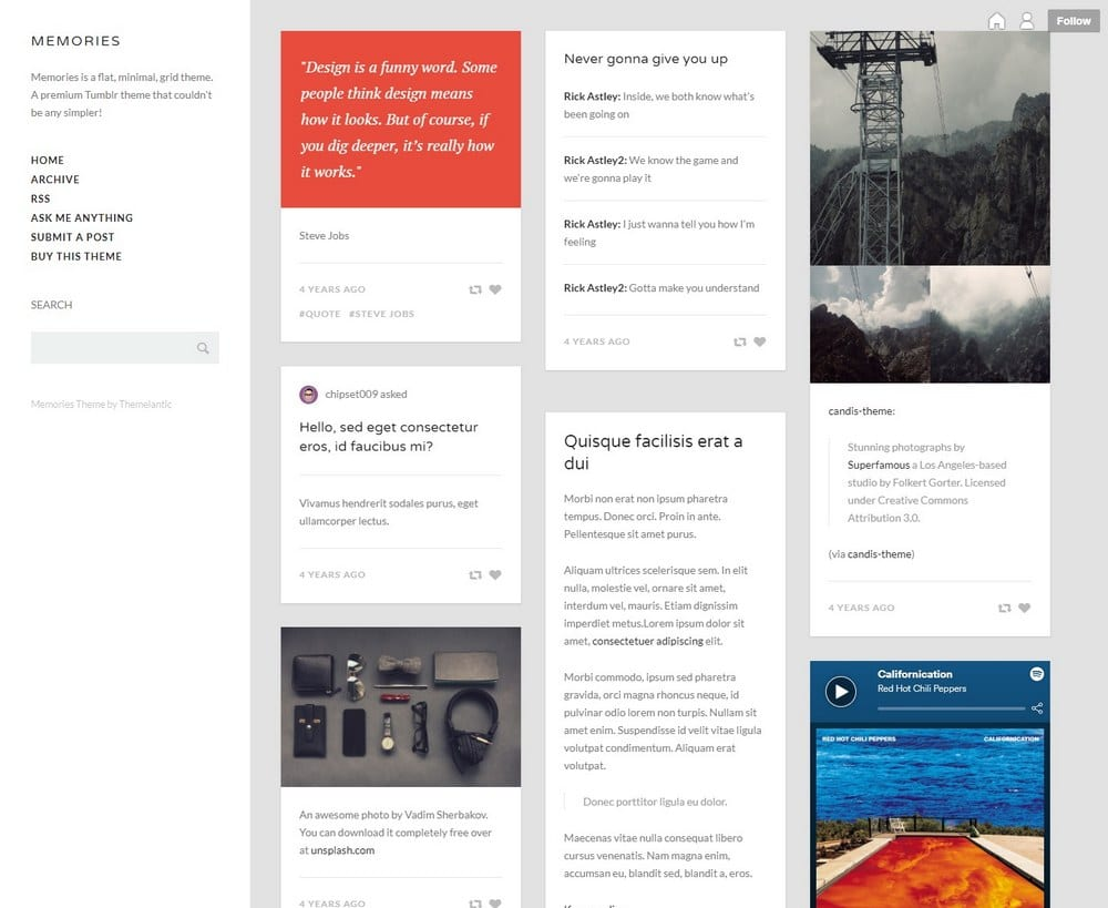memories-grid-tumblr-theme - Theme Junkie