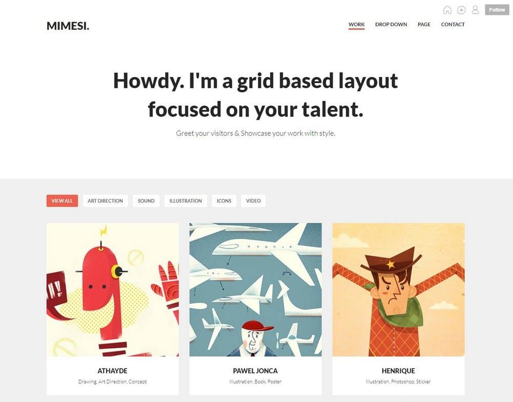 mimesi-tumblr-portfolio-theme