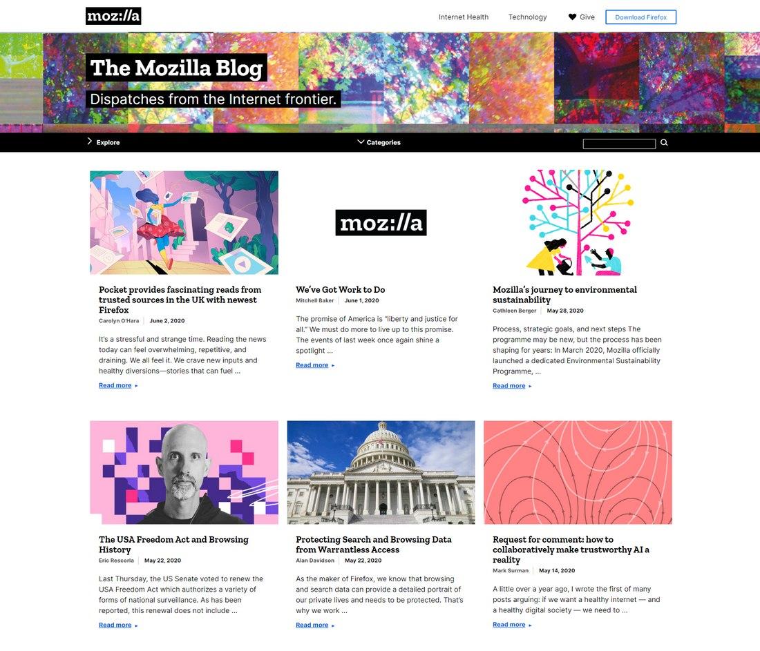 blog mozilla