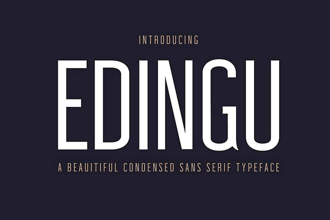 20+ Best Narrow, Condensed + Slim Fonts 2019