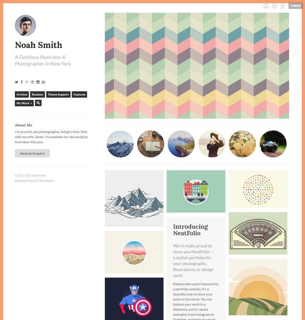 neatfolio-grid-tumblr-theme