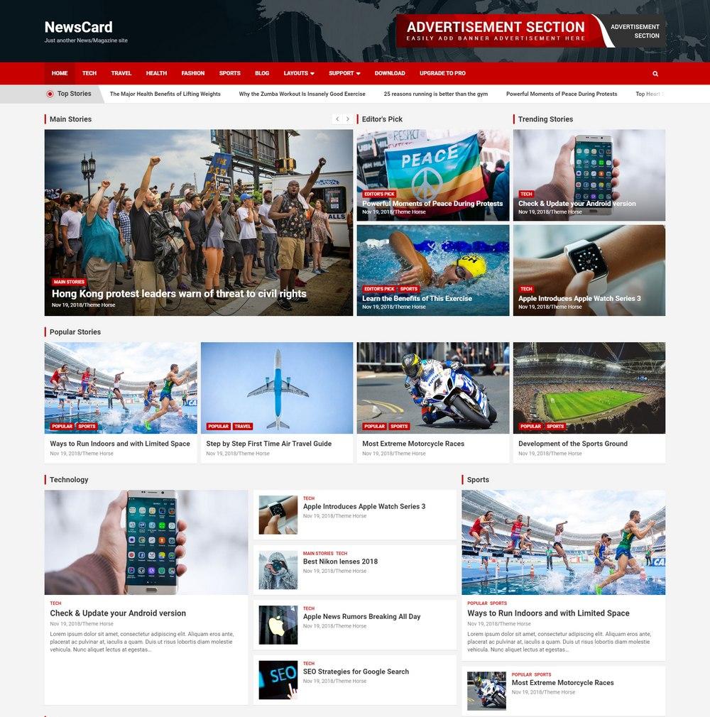 newscard-free-wp-theme