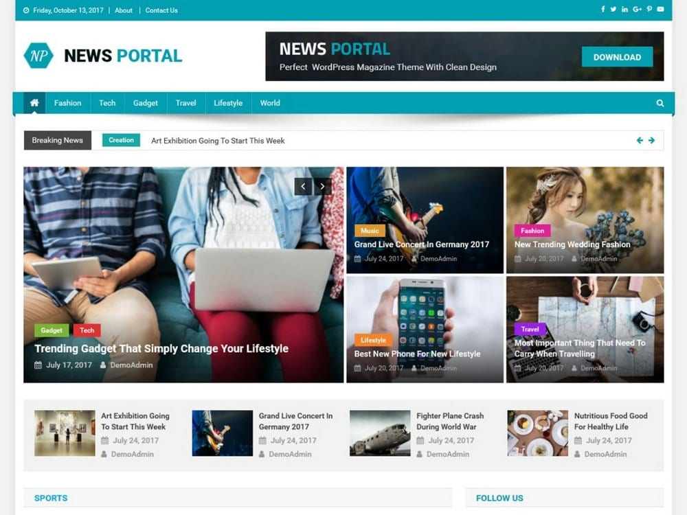newsportal-free-wordpress-theme