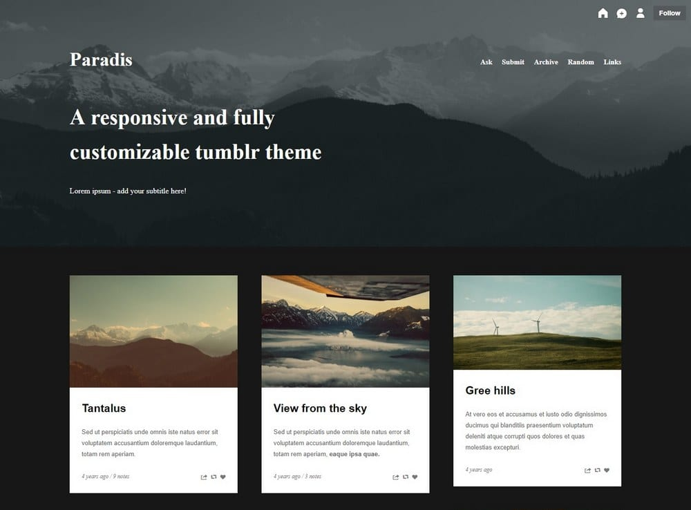 paradis-tumblr-theme-for-writer