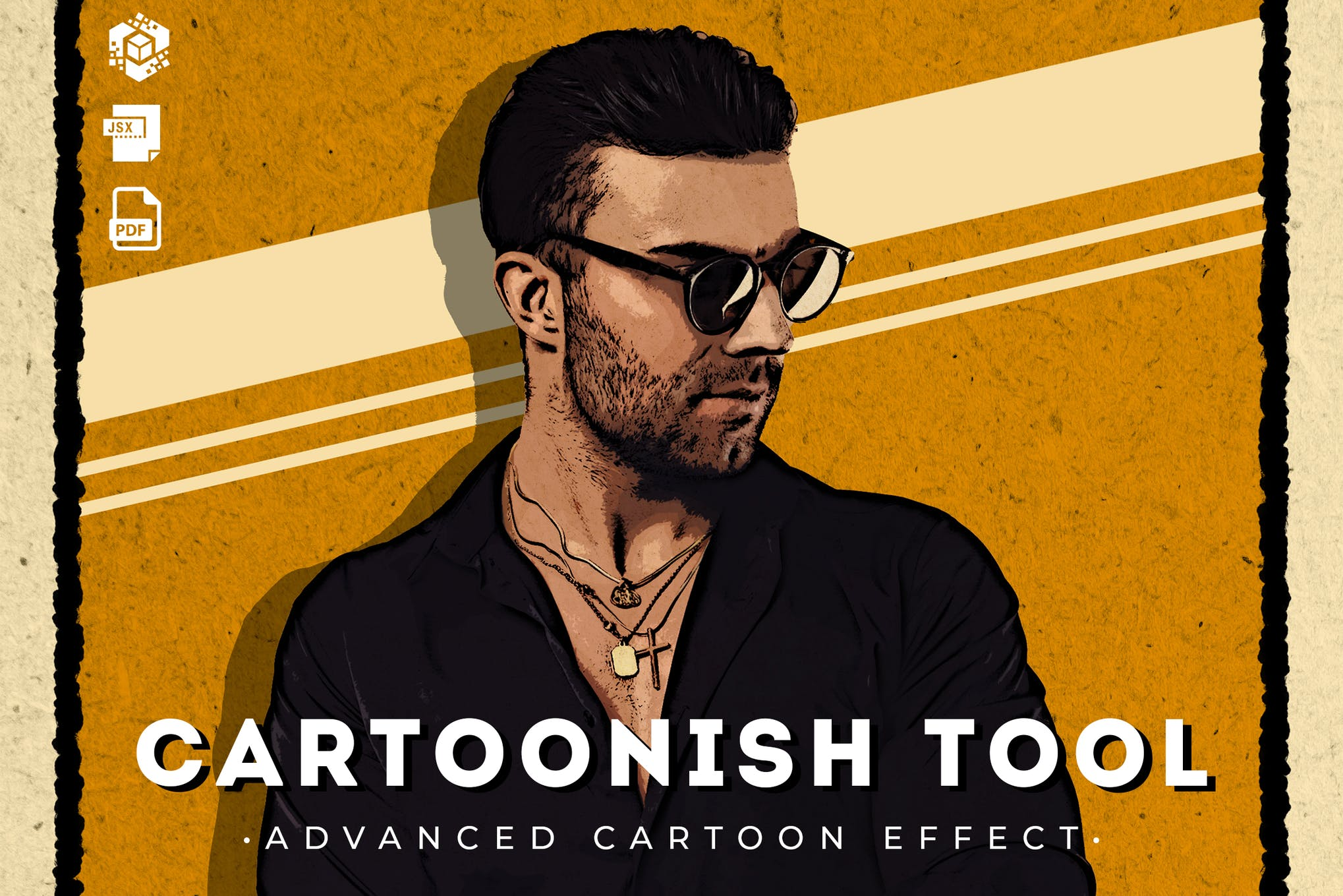 photoshop cartoon action
