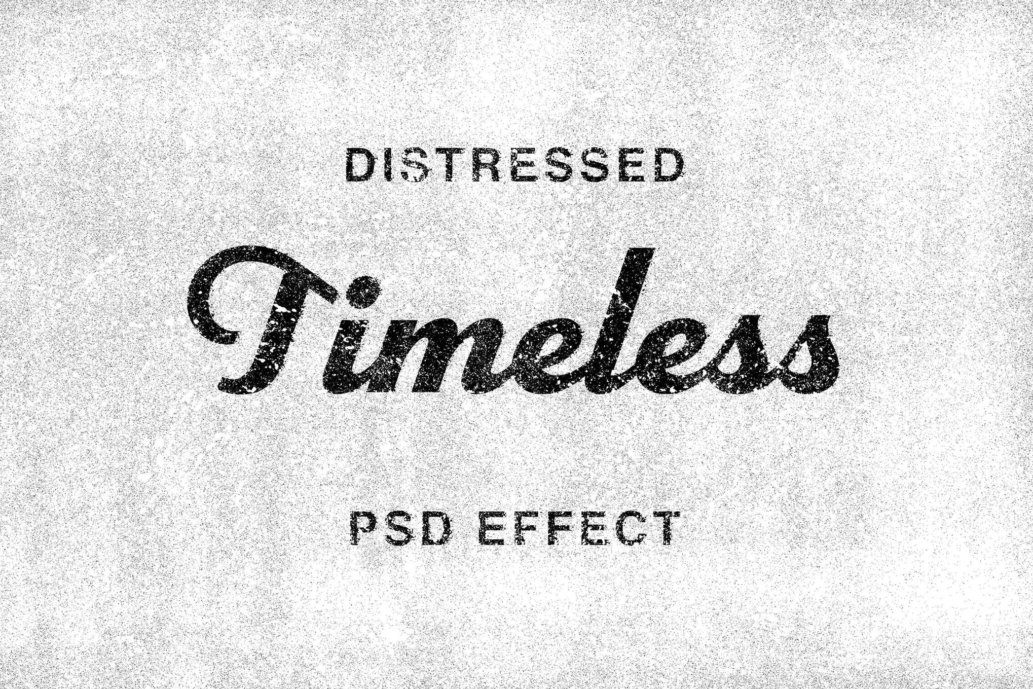 photoshop distressed effect