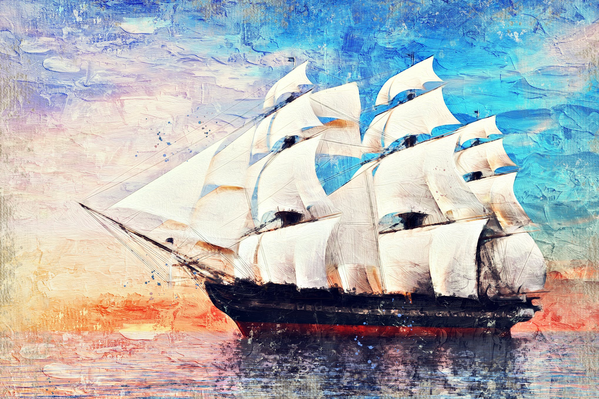 photoshop painting effect