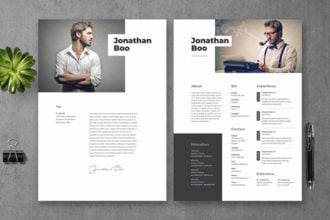 20+ Best Photoshop Resume Templates (PSD) With Modern Designs