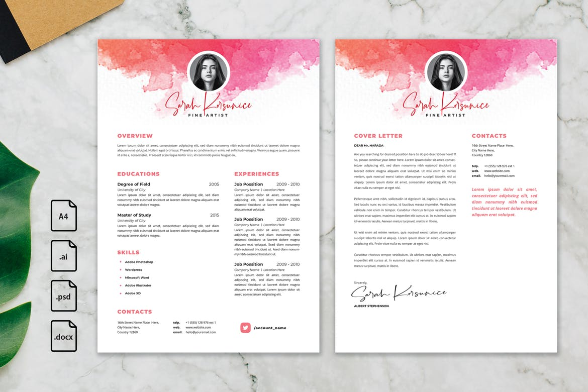 20 Best Photoshop Resume Templates Psd With Modern Designs Theme Junkie