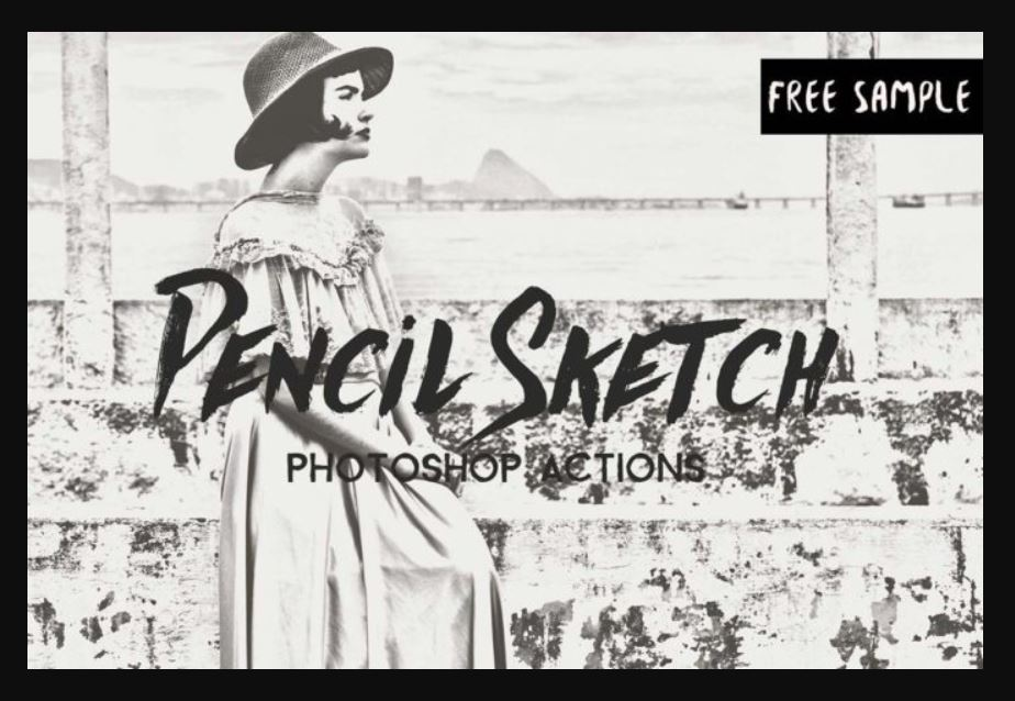 25 pencil sketch photoshop actions with drawing effects theme junkie