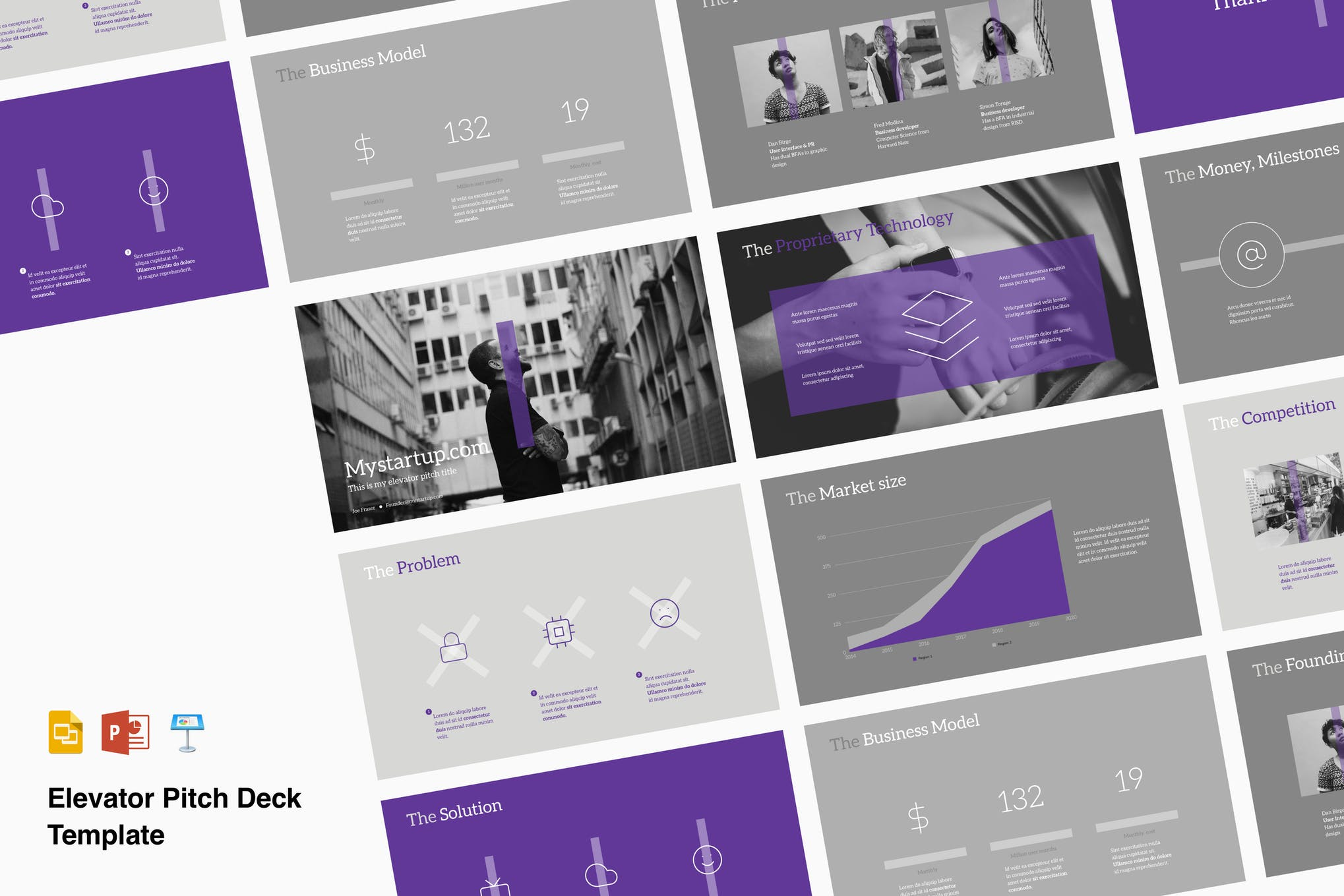 pitch deck template powerpoint