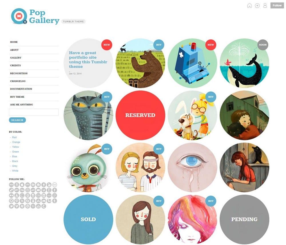 pop gallery-cute-tumblr-theme