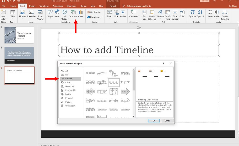 powerpoint - add timeline 1