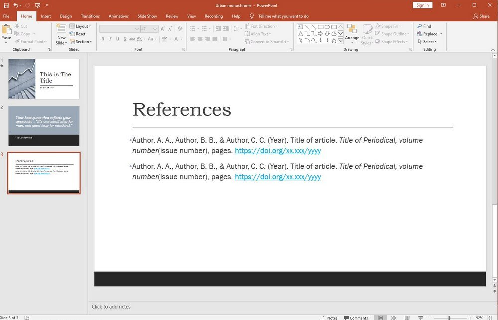 powerpoint guide - citations