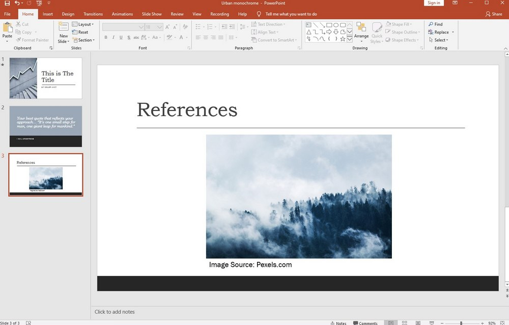 powerpoint guide - cite images