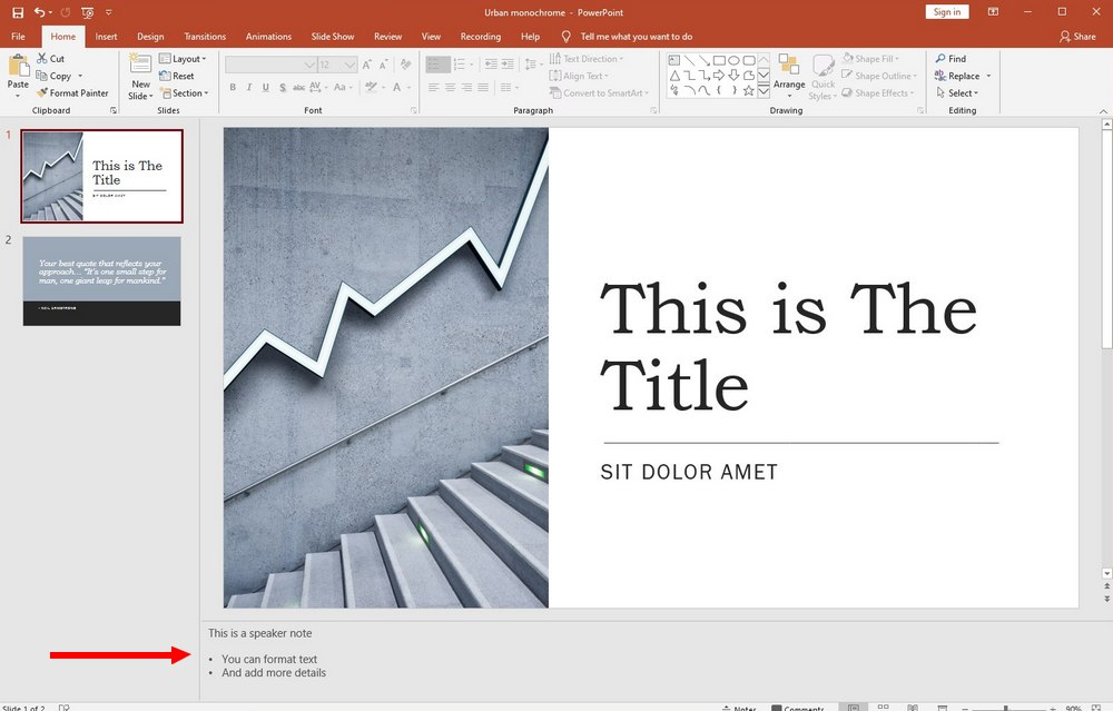 powerpoint guide - speaker notes 2