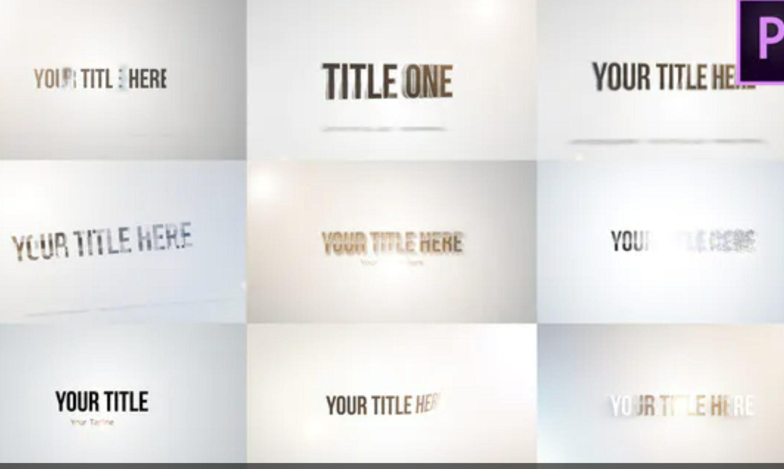 premiere pro titles
