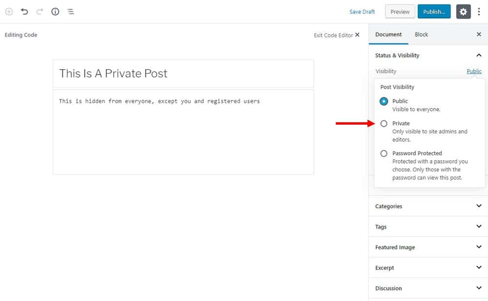 private-wordpress-post-page